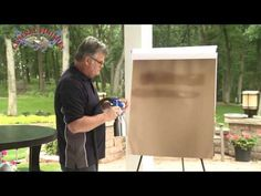 How to Spray General Finishes High Performance Water Based Top Coat - YouTube
