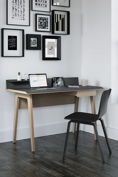 The Bevel Writing Desk by BDI is a stylish and functional desk, ready to help you tackle every task. Great for home office or kids room. Creative Office, Modern Office Desk, Cool Office, Office Ideas, Workspace Design, Office Interior Design, Office Interiors, Workspace Inspiration, Writing Desk
