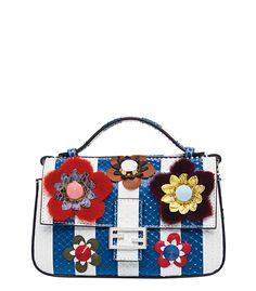 7d4d749d6d0f Fendi Snakeskin Floral Applique Baguette Bag Cute Purses