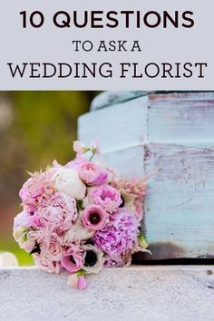 Everything you need to know when searching for your wedding flowers and florist!