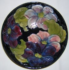 Moorcroft Pottery Marks | Moorcroft Pottery Clematis Bowl Signed With Paper Label M89 : Perfect ...