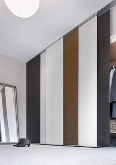 Details: Including assembly instructions, Delivered without panel wagon - please order panel Ikea Panel Curtains, Sliding Curtains, Closet Curtains, Room Divider Curtain, Cool Curtains, Closet Bedroom, Closet Doors, Bedroom Decor, Sliding Panels