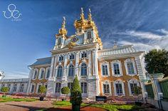 East Chapel at Petrodvorets (Peterhof) Grand Palace in St. Petersburg, Russia....
