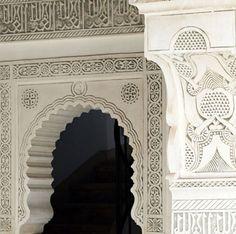 Riad Dixneuf la Ksour, Marrakech, Morocco by faye Morrocan Architecture, Islamic Architecture, Art And Architecture, Architecture Details, Visit Morocco, Marrakech Morocco, Riad, Restaurants, Texture Photography