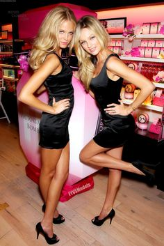 Fit Toned LBD Victoria Secret Models Blonde Sexy Hot Skinny Legs