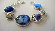 Items similar to Asymmetrical bracelet, Funky bracelet, Butterfly jewelry, royal blue jewelry, on Etsy Purple Necklace, Purple Jewelry, Funky Jewelry, Butterfly Jewelry, Modern Jewelry, Unique Jewelry, Butterfly Bracelet, Silver Jewelry, Bohemian Bracelets