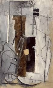 Clarinet and Violin Pablo Picasso (1913) Periodo: Cubismo sintético. Género: Bodegón.