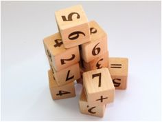 Wooden Numbered Blocks