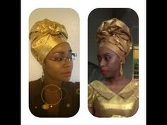 How to tie Gele: Bridal style II - YouTube African Fashion Designers, African Men Fashion, African Dresses For Women, African Wear, African Beauty, African Women, Ghanaian Fashion, Nigerian Fashion, How To Tie Gele