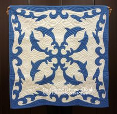 Dolphin Hawaiian quilt