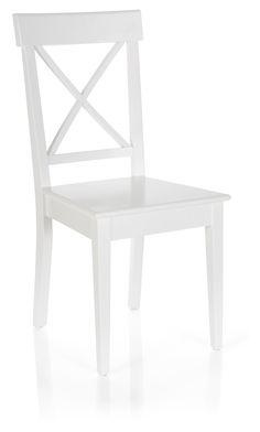 Ava Wooden Chair White
