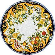 "CeramicArte Deruta ""Vietre"" lava stone patio table"