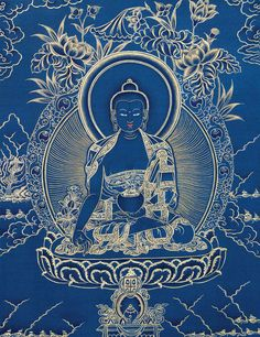 Medicine Buddha in blue