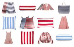 so many stripes. red and blue and America and Paris.