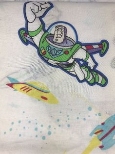 Toy story Vintage Buzz Lightyear Twin Flat Sheet Fabric Disney Home    eBay