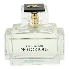 Ralph Lauren - Notorious: A modern classic fragrance of timeless intrigue. Seductive, mysterious, passionate & sensual. Top notes of bergamot, black currant, pink peppercorn. Middle notes of peony, chocolate cosmos, carnation. Base notes of patchouli, musk, iris, vanilla.