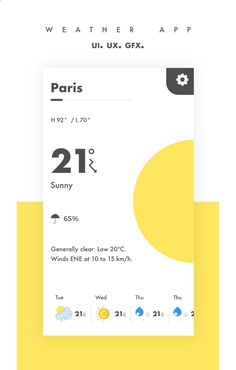 Check out my @Behance project: Weather app UI/UX www.behance.net/...