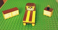 LEGO Custom Furniture Boys Bedroom Set- Bed with Lion Head, Dresser, Night Table..! #LEGO #LEGOModular #LEGOFurniture #LEGOBedroom