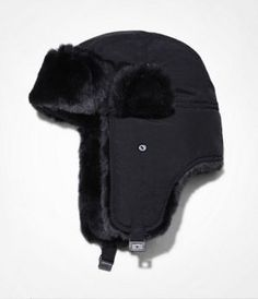 6a4032fe3f3 EXPRESS TECH FAUX FUR TRIMMED NYLON TRAPPER HAT at Express  expressholiday