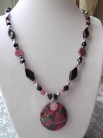 """Rose & Black"" Necklace & Earrings $28.00"