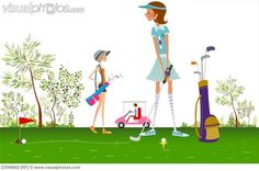 Lady Golfer Clip Art | Related Pictures three women playing golf