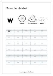 Alphabet Tracing Worksheet - Alphabet Tracing Sheets - Small Letter w Small Alphabet Letters, Alphabet Writing Practice, Alphabet Book, Alphabet Tracing Worksheets, Tracing Letters, Prewriting Skills, Tracing Sheets, Preschool Writing, Phonics Reading