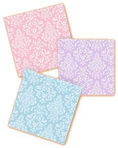 damask wallpaper-fun teen girls bedroom wall colors-vintage theme bedrooms - Pink Damask Pattern  - purple Damask Pattern - powder blue Damask Pattern