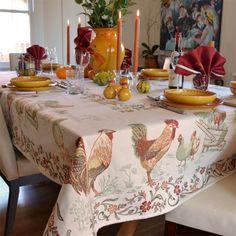 """""""La Ferme"""" Jacquard 100% Double Woven Cotton Tablecloth Collection"""