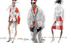Nina Donis fashion sketches
