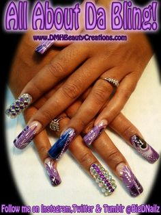 Hand Paint, Water Marble, Bling Factor