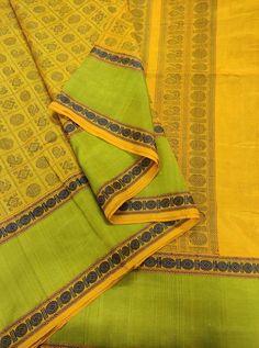 Mustard Yellow Kanchi Silk Cotton 1000 Butta With Running Blouse Saree Blouse Neck Designs, Whatsapp Messenger, Cotton Silk, Mustard Yellow, Beautiful People, Globe, Running, Fashion, Moda