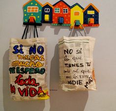 bolsas amorosas con papel de periódico
