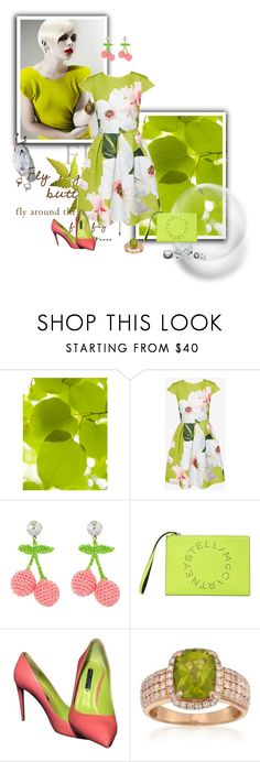 """Celia"" by dragonfly-lt ❤ liked on Polyvore featuring Ted Baker, Venessa Arizaga, STELLA McCARTNEY, Ralph Lauren and Ross-Simons"