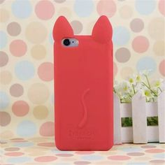 Cute Ear Cat Silicon soft Back Case Cover for iphone 5 5s Phone Case