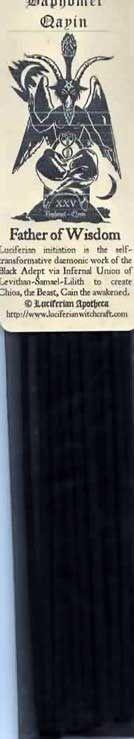 Baphomet-Qayin Incense sticks