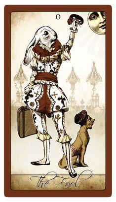 My Vintage Valentine version of the Isidore Tarot. Major Arcana Cards, Deck Box, Artist Signatures, Doll Maker, Vintage Valentines, Special Promotion, Tarot Decks, Bunny Rabbit, The Fool