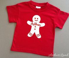 Gingerbread Man,Christmas Shirt,Christmas Tshirt,Personalised Christmas,Babys First Christmas Outfit,Baby First Christmas,Family Christmas