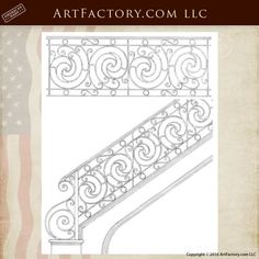 """""""Dream Designs From Pages Out Of World History """" Iron Stairs Designs, Custom Stair Rail Designs, Ornamental Iron Railings Drawings, Custom Wrought Iron Designs, Balcony Designs, Custom Stair Railing – Residential And Commercial – Hand Forged In America – Black Smithed By Hammer, Anvil And Coal Fired Forge The Old Fashioned Way """"When Every Thing Made In America Was Built To Last Forever"""" And Craftsmen Were Proud To Sign Their Work – All Metals Hand Forged And Patina Advanced By Our Master…"""