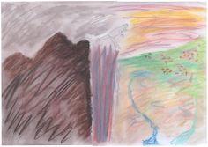 Sprung - 2015 - Pastellkreiden auf Papier