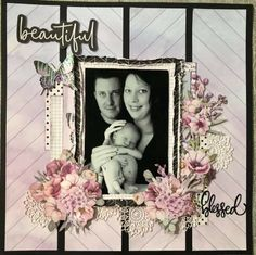 Scrapbook Designs, Scrapbooking Layouts, Scrapbook Pages, Friend Scrapbook, Baby Girl Scrapbook, Creative Cards, Creative Ideas, Page Layout, Projects To Try