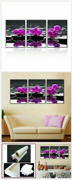 Purple Passion 3 Piece Canvas Art Set No. BDT-101 from Belladonna Home Decor http://belladonnahomedecor.storenvy.com/collections/1376999-new-items/products/23494437-purple-passion-3-piece-canvas-art-set-no-bdt-101  (Pinned using https://PromotePictures.com)