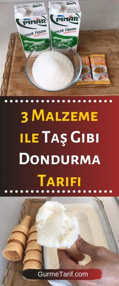Stone-like ice cream recipe with 3 ingredients - gourmet 3 Malzeme İle Taş Gibi Dondurma Tarifi – Gurme Tarif cream Up - Köstliche Desserts, Healthy Desserts, Dessert Recipes, Gourmet Recipes, Cooking Recipes, Good Food, Yummy Food, Cookery Books, Vegetable Drinks