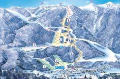 Bled/Bohinj piste map and ski area map. Details of all the runs and lifts in Bled/Bohinj, Slovenia from Iglu Ski Bohinj, Area Map, Geneva Switzerland, Whistler, Mount Everest, Skiing, Mountains, Travel, Snow