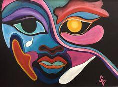 Modern Portrait Artists, Modern Portraits, Colorful Artwork, People Art, Tribal Art, Abstract Print, Spirituality, Wall Art, Wall Decor