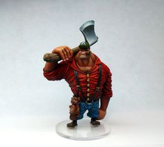 jack the lumberjack sculpture miniature | There are few jobs more manly than that of a Lumberjack, high heels ...
