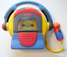 Fisher Price Tuff Stuff Tape Recorder Microphone Cassette Player - Tested Works…