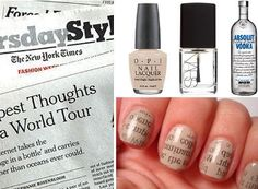 newsprint manicure