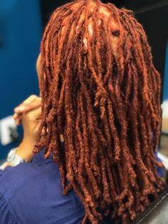 Hair Color Auburn, Auburn Hair, Hair Color For Black Hair, Dreadlock Hairstyles, Twist Hairstyles, Cool Hairstyles, Dyed Dreads, Locs, Nattes Twist Outs