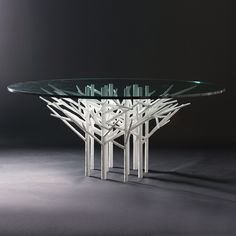 Allan KnightFurnishings | Tables | Pines of Rome Table Round, Large, Polished White Clay
