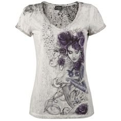 Les Belles Dames De La Rose - Girls shirt by Alchemy England - Article Number: 250180 - from 16.99 £ - EMP Mail Order UK Ltd. ::: The Heavy ...